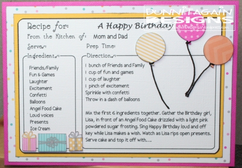 Recipe for A Happy Birthday